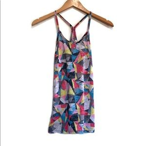 dELiA*s Geometric Patterned Racer Back Camisole Size Extra Small XS